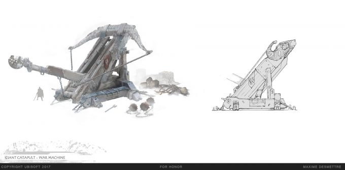 For Honor Game Concept Art Maxime Desmettre 04 giant catapult design