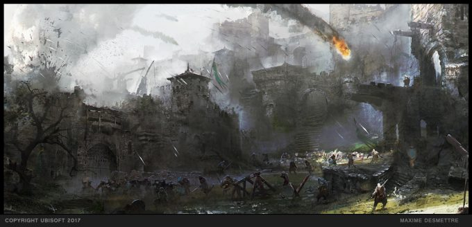 For Honor Game Concept Art Maxime Desmettre 05 courtyardsbattle