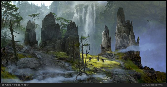 For Honor Game Concept Art Maxime Desmettre 06 campainmapintro high plateau pinnacles