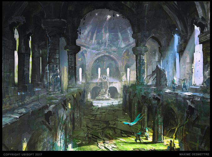 For Honor Game Concept Art Maxime Desmettre temple 02