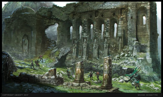 For Honor Game Concept Art Maxime Desmettre temple side