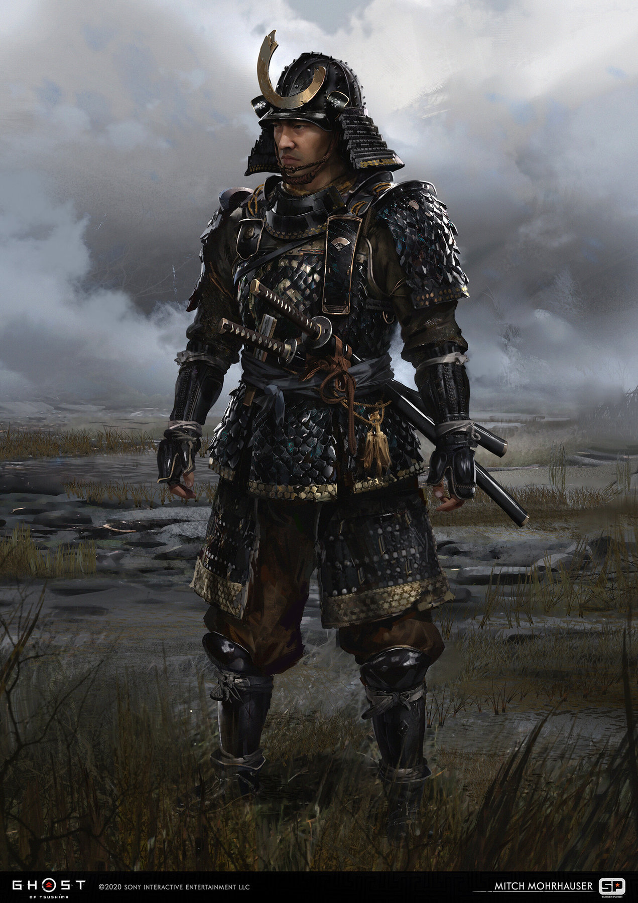 Ghost Of Tsushima concept art mitch mohrhauser early sakai armor 1
