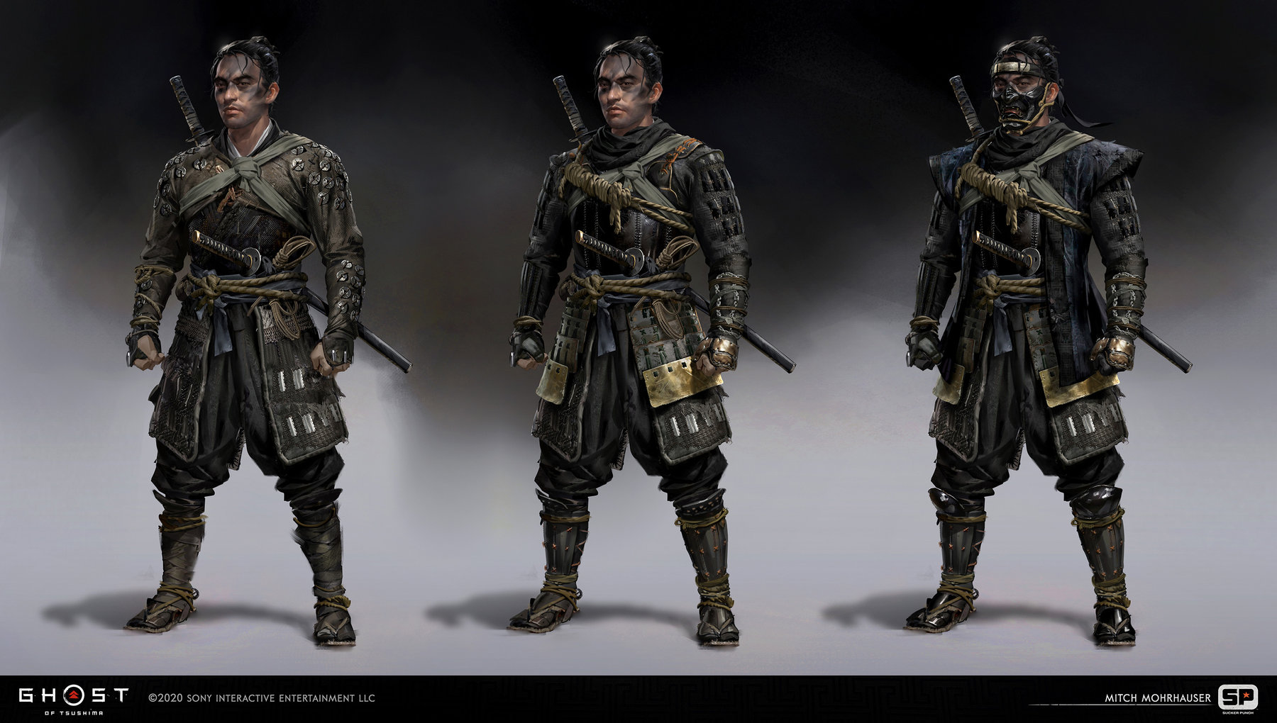 Ghost Of Tsushima concept art mitch mohrhauser jin ghost armor 1