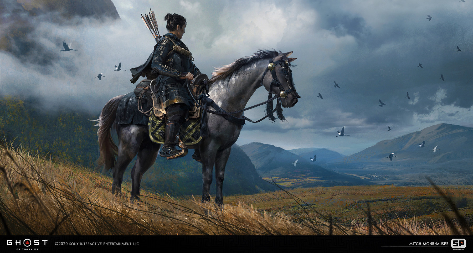 Ghost Of Tsushima concept art mitch mohrhauser jin horse 1