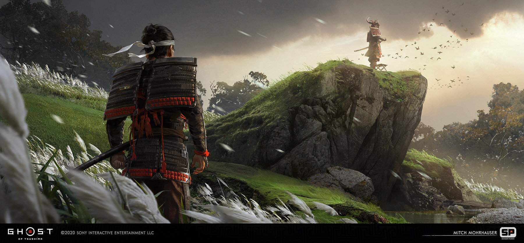 Ghost Of Tsushima concept art mitch mohrhauser jin shimura grass 1