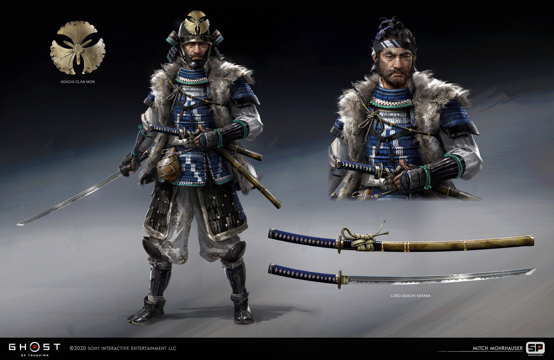 Ghost Of Tsushima concept art mitch mohrhauser lord adachi 1