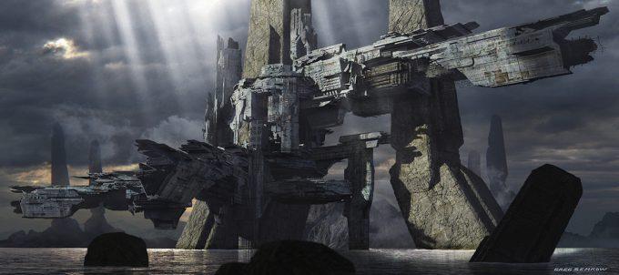 Greg Semkow Concept Art Ruins Settlement LR