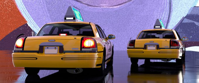 Spider Man Into the Spider Verse Concept Art Vaughan Ling taxi rear 2