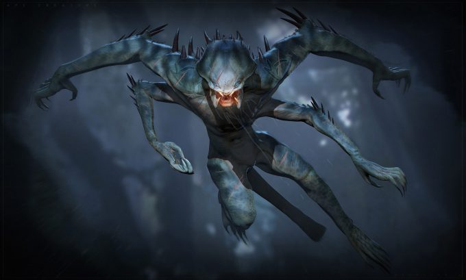 The Predator Concept Art Ben Mauro Design exploration body 022 bm