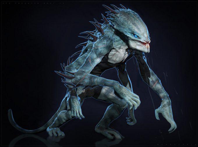 The Predator Concept Art Ben Mauro Design exploration body 02s bm