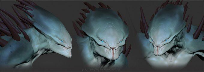 The Predator Concept Art Ben Mauro Design exploration body 04 bm