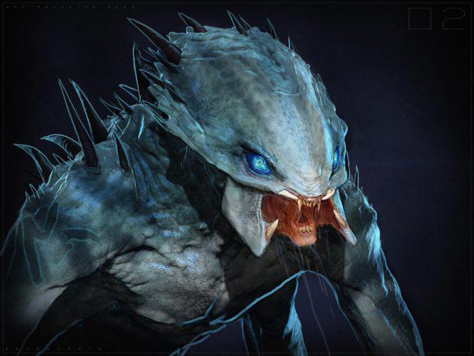 The Predator Concept Art Ben Mauro Design exploration head roar 02s bm