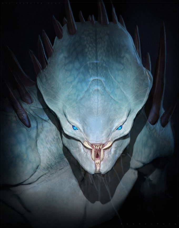 The Predator Concept Art Ben Mauro Design exploration head03 bm