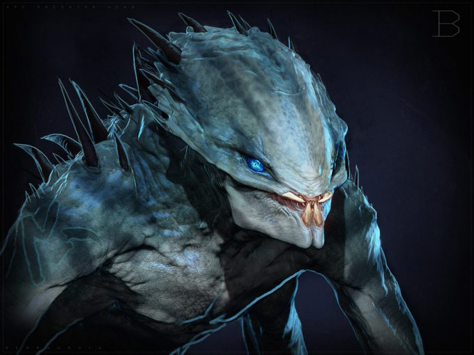 The Predator Concept Art Ben Mauro Design exploration headroar 01 bm