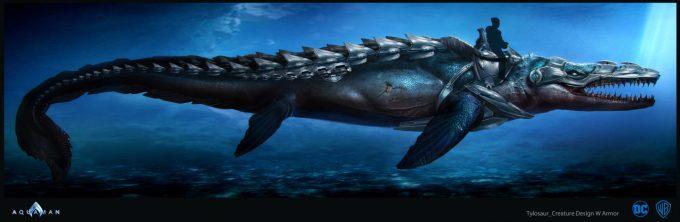Aquaman Movie Concept Art 06 Tylosaur Creature Design