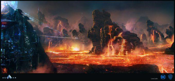 Aquaman Movie Concept Art 08 Lava Lake