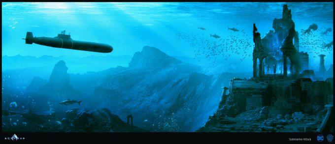 Aquaman Movie Concept Art 13 Submarine Attack 02