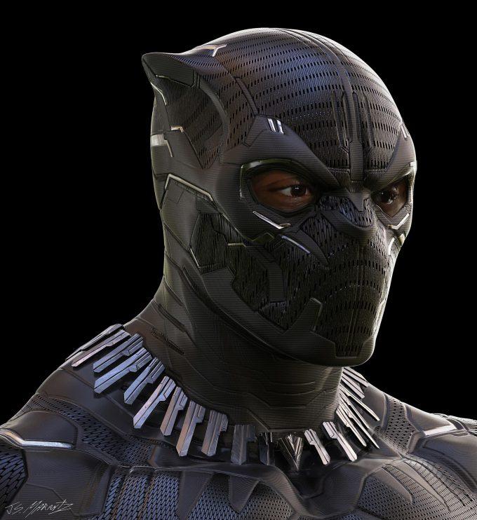 Avengers Infinity War Concept Art Jerad Marantz Black Panther 3 rev2