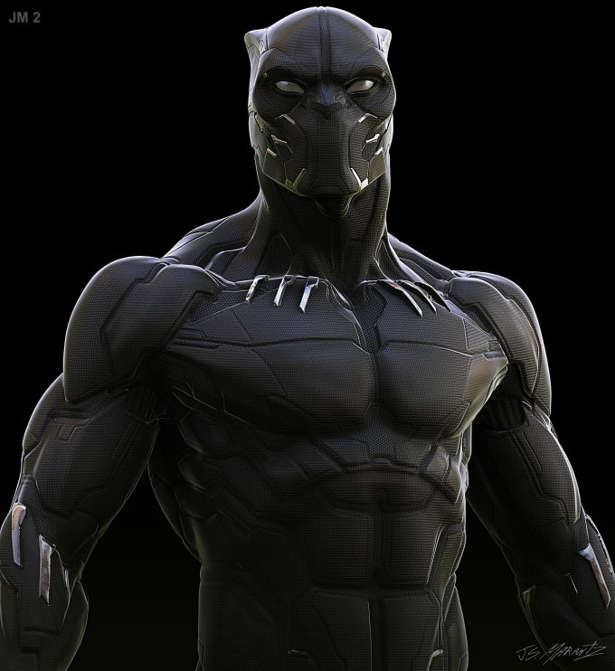 Avengers Infinity War Concept Art Jerad Marantz Black Panther 4