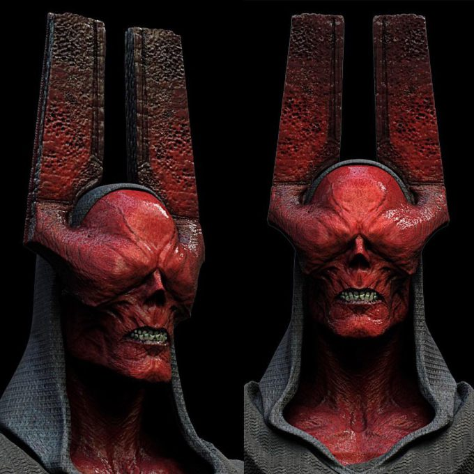 Avengers Infinity War Concept Art Jerad Marantz Redskull 01