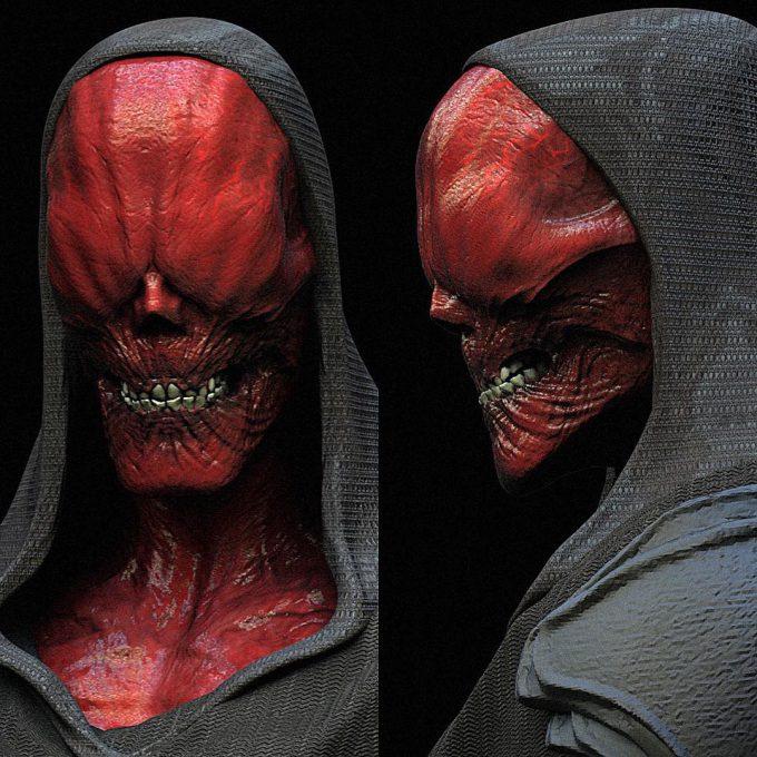 Avengers Infinity War Concept Art Jerad Marantz Redskull 02