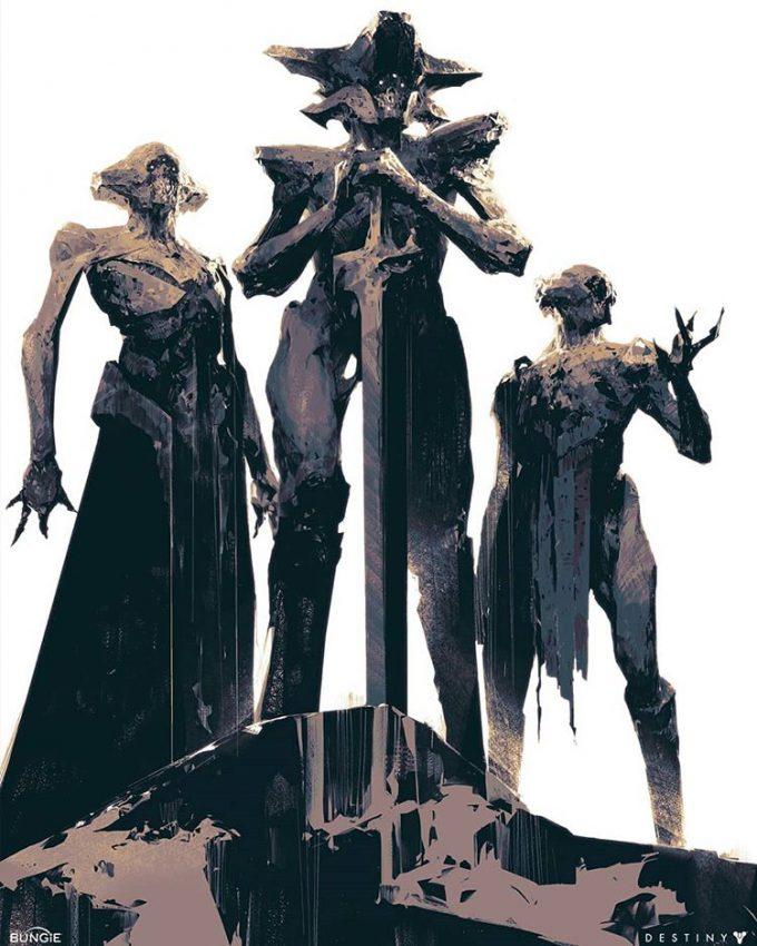 Destiny 2 Artwork Grimoire Anthology Piotr Jablonski The Three Sisters