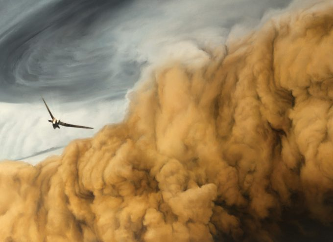 Dune Frank Herbert Novel Art The Folio Society Illustrated Sam Weber Ornithopter and the Sandstorm