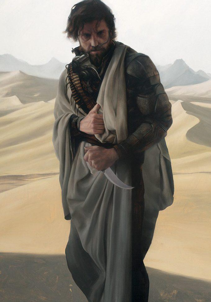 Dune Frank Herbert Novel Art The Folio Society Illustrated Sam Weber Stilgar Ben Fifrawi