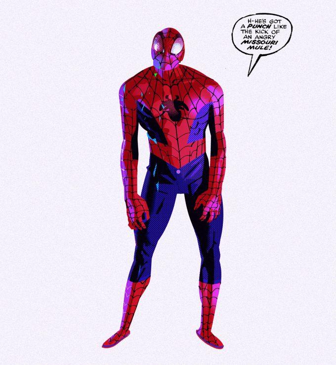 Spider Man Into the Spider Verse Concept Art Alberto Mieglo New Spider Man 03