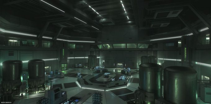 Spider Man PS4 Game Concept Art Dennis Chan Arena Interior Concept Final v01