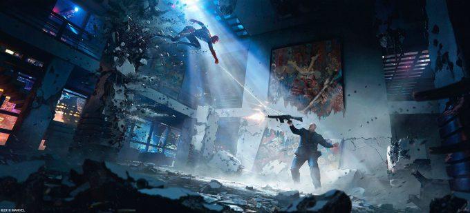 Spider Man PS4 Game Concept Art Dennis Chan DEuK0mjXcAA3ViE