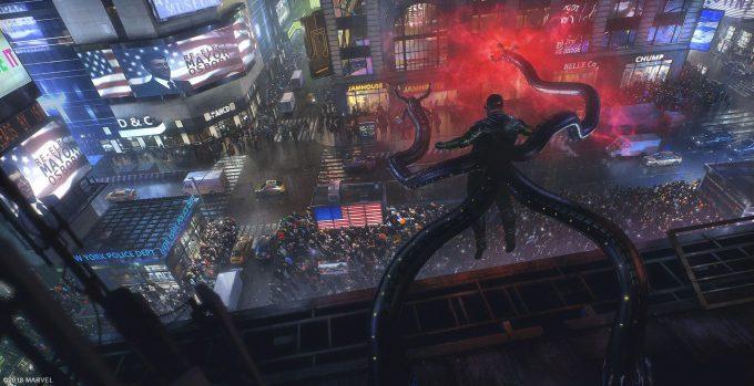 Spider Man PS4 Game Concept Art Dennis Chan Devils Breath Concept Final V01
