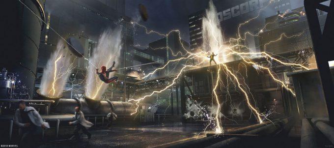 Spider Man PS4 Game Concept Art Dennis Chan Electro Fight Concept Final v02