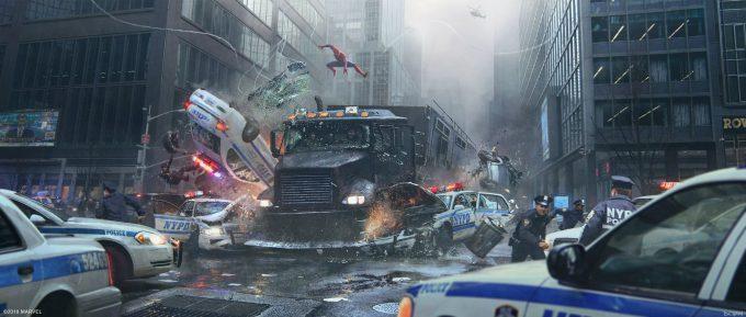 Spider Man PS4 Game Concept Art Dennis Chan Keyart Action01 Final v001