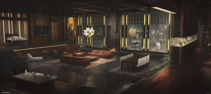 Spider Man PS4 Game Concept Art Dennis Chan Normans Apartment Concept Final V01