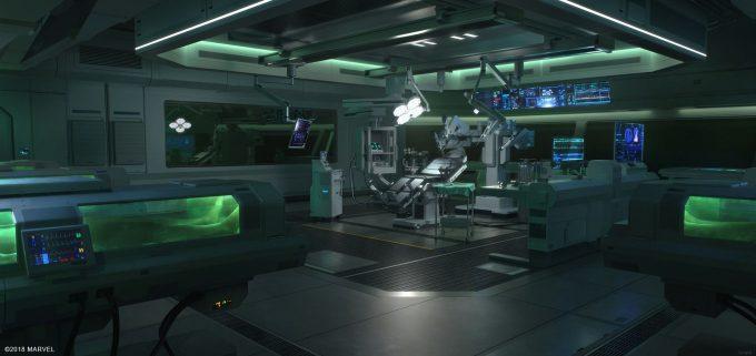 Spider Man PS4 Game Concept Art Dennis Chan Observation room concept final v01