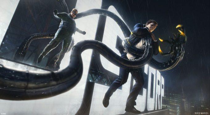 Spider Man PS4 Game Concept Art Dennis Chan OttoVSNorman Concept Final v01