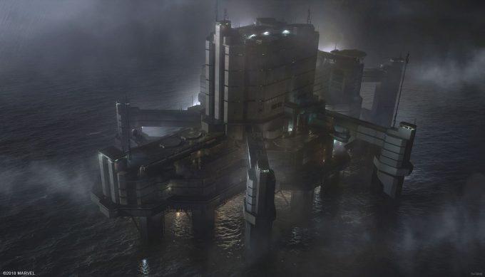 Spider Man PS4 Game Concept Art Dennis Chan RAFT Final Concept V02