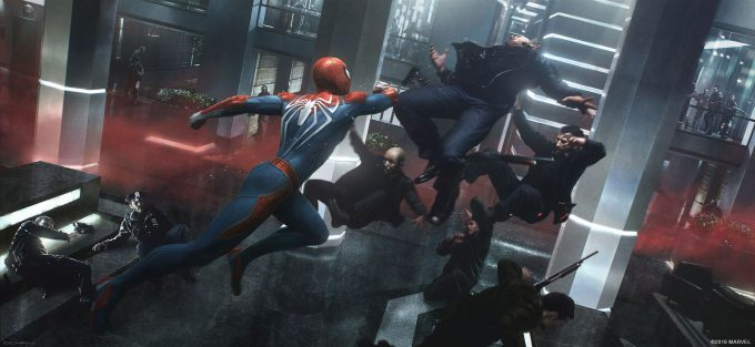 Spider Man PS4 Game Concept Art Dennis Chan Spiderman Cover