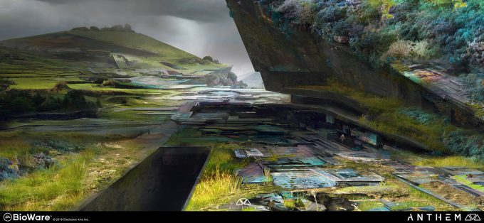Anthem BioWare Game Concept Art Design Alex Figini shaper ruins 01