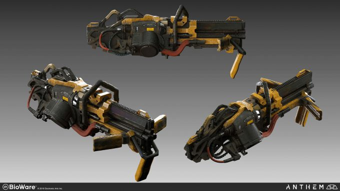 Anthem BioWare Game Concept Art Design Alex Figini weapons auto cannon 05