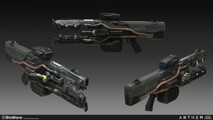 Anthem BioWare Game Concept Art Design Alex Figini weapons dominion beam burst 01