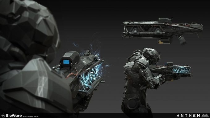 Anthem BioWare Game Concept Art Design Alex Figini weapons dominion lightning gun 01