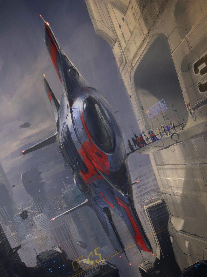 Colie Wertz Concept Art Spaceship 05