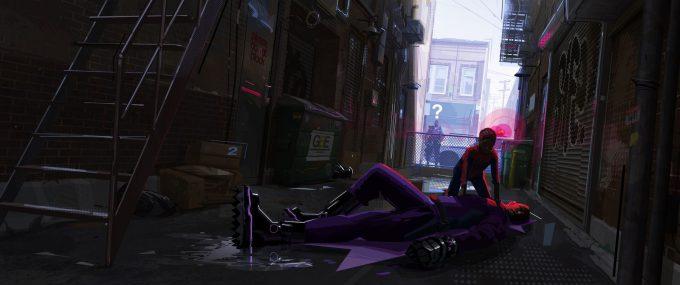Spider Man Into The Spider Verse Concept Art patrick o keefe cbf alley 0001c