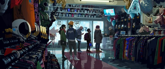 Spider Man Into The Spider Verse Concept Art patrick o keefe costume store 0002