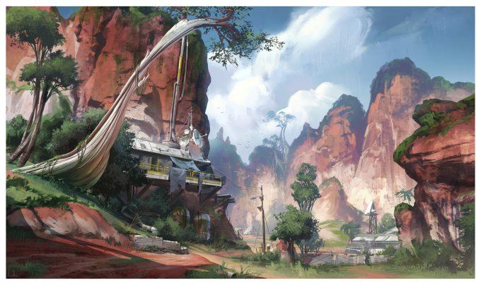 Apex Legends Concept Art Hethe Srodawa canyon 01