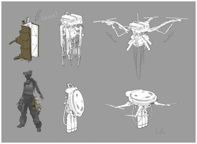 Apex Legends Concept Art Hethe Srodawa lifeline drone01