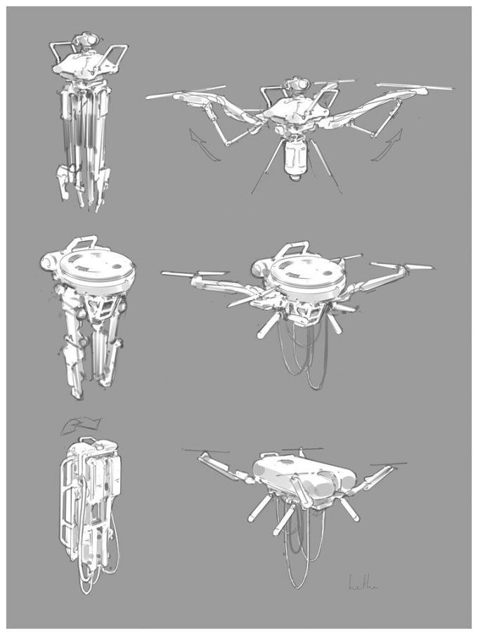 Apex Legends Concept Art Hethe Srodawa lifeline drone02