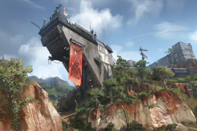 Apex Legends Concept Art Hethe Srodawa military base overhang01